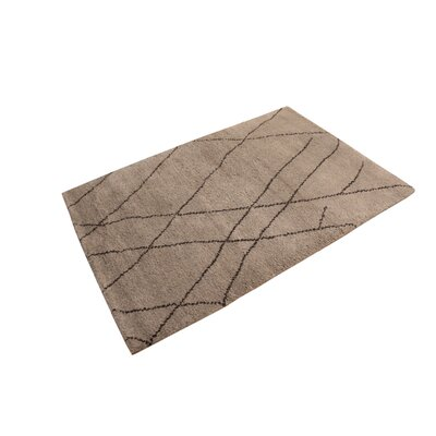 Crosswhite Hand Knotted Wool Brown Indoor Area Rug