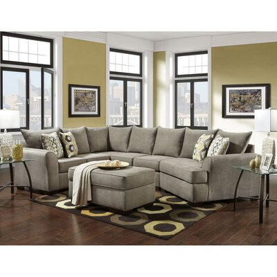 Denissa Sectional with Ottoman Upholstery: Platinum