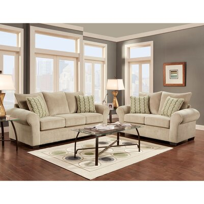 Dereck 2 Piece Living Room Set Upholstery: Tan
