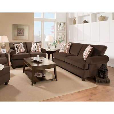Derell 2 Piece Living Room Set Upholstery: Chocolate