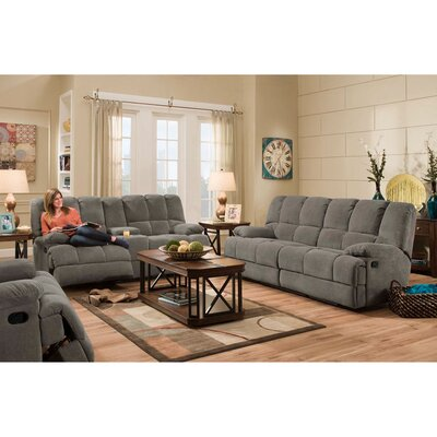 Penn 3 Piece Living Room Set Upholstery: Gray
