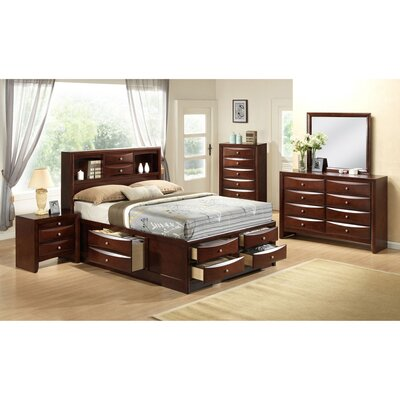 Derik Platform 5 Piece Bedroom Set Bed Size: Queen