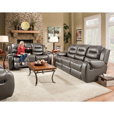 Clark 2 Piece Living Room Set Upholstery: Gray