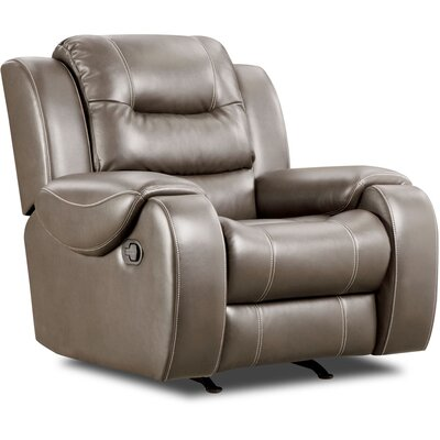 Daigre Recliner Upholstery: Gray, Reclining Type: Manual Recline, Motion Type: Rocker