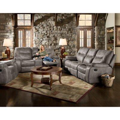 Daubert 3 Piece Living Room Set Upholstery: Gray