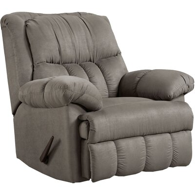 Denys Manual Rocker Recliner Upholstery: Gray
