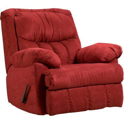 Denys Manual Rocker Recliner Upholstery: Red Brick