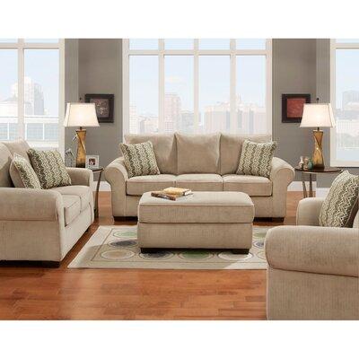 Dereck 3 Piece Living Room Set Upholstery: Tan