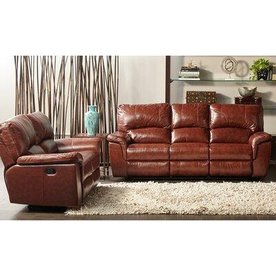 Albertus 2 Piece Leather Living Room Set