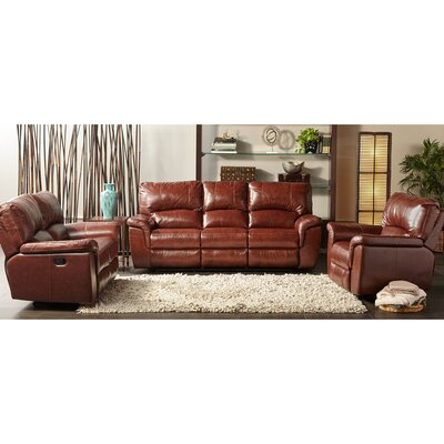 Albertus 3 Piece Leather Living Room Set