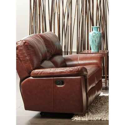 Albertus Leather Reclining Loveseat