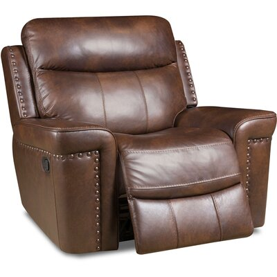 Derrek Leather Manual Rocker Recliner