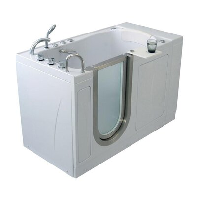 Elite Acrylic 30 x 52 Walk in Bathtub Type: Microbubble