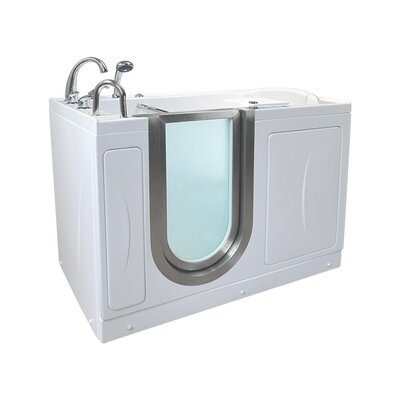 Elite Acrylic 30 x 52 Walk in Air Bathtub Type: Air/Microbubble/Heated Seat