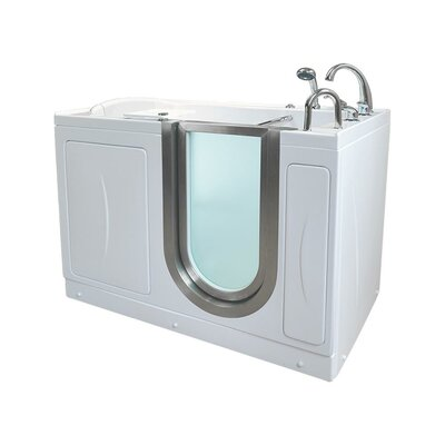 Elite Acrylic 30 x 52 Walk in Bathtub Type: Microbubble/Heated Seat