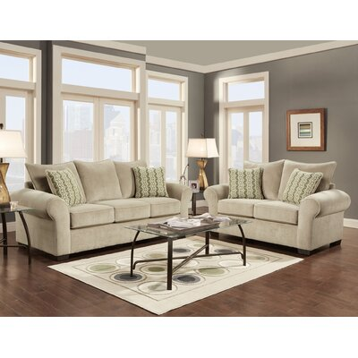 Dereck 3 Piece Living Room Set Upholstery: Tan