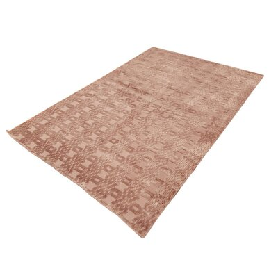 Alverez Hand-Woven Silk Pink Area Rug Rug Size: Rectangle 8 x 1011