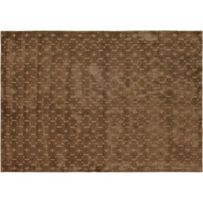 Alverez Hand-Woven Silk Brown Area Rug Rug Size: Rectangle 5 x 711