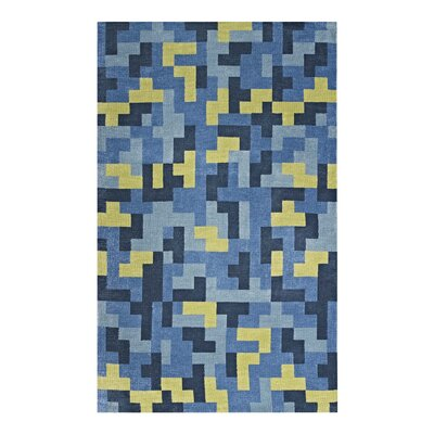 Hartshorn Blue/Light Olive Green Area Rug Rug Size: Rectangle 8 x 10