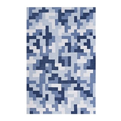 Hartshorn Light/Dark Blue Area Rug Rug Size: Rectangle 8 x 10