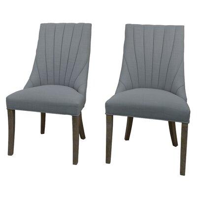 Downham Upholstered Dining Chair Upholstery: Light Blue