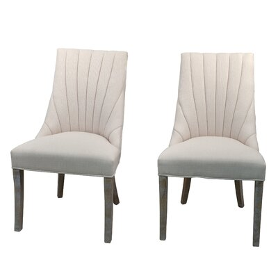 Downham Upholstered Dining Chair Upholstery Color: Cream