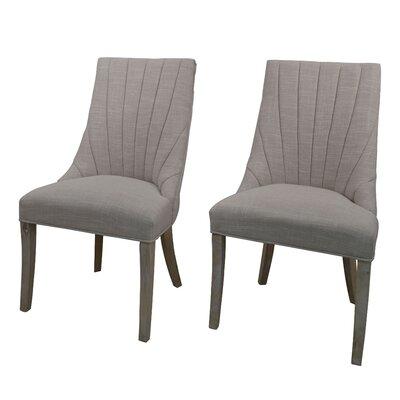 Downham Upholstered Dining Chair Upholstery: Gray Beige