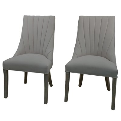 Downham Upholstered Dining Chair Upholstery Color: Light Gray