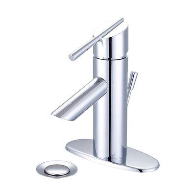 Lavatory Single Hole Handle Bathroom Faucet with Drain Assembly Finish: Polished Chrome