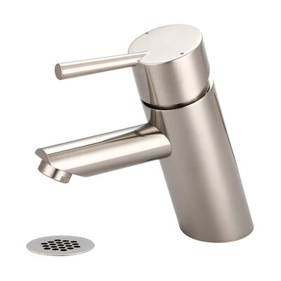 Single Handle Deck Mounted Standard Bathroom Faucet Finish: PVD Brushed Nickel