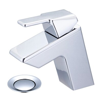 Lavatory Single Hole Handle Bathroom Faucet with Drain Assembly Finish: Polished Chrome, Optional Accessories: Push Down Drain