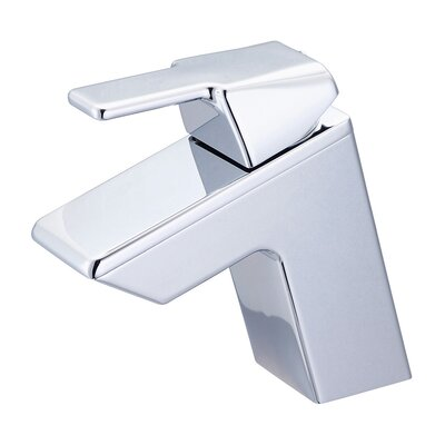 Lavatory Single Hole Handle Bathroom Faucet with Drain Assembly Finish: Polished Chrome