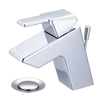 Lavatory Single Hole Handle Bathroom Faucet with Drain Assembly Finish: Polished Chrome, Optional Accessories: Pop-Up Drain