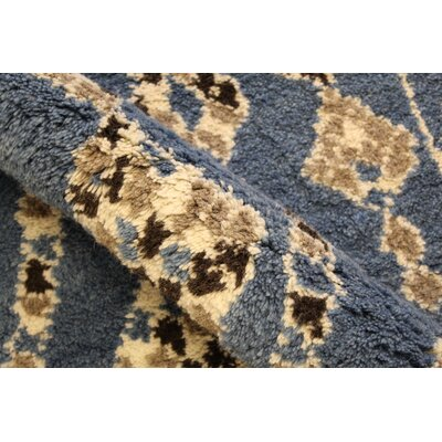 Catanzaro Hand Knotted Wool Blue/Ivory Indoor Area Rug