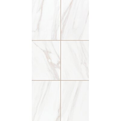 Bradwell High Gloss 10 x 14 Ceramic Field Tile in Bianco Cararra