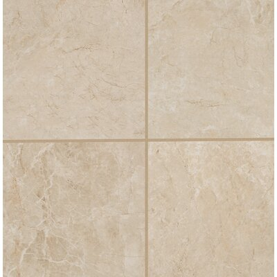Bradwell Glazed 12 x 12 Porcelain Filed Tile in Crema Marfil