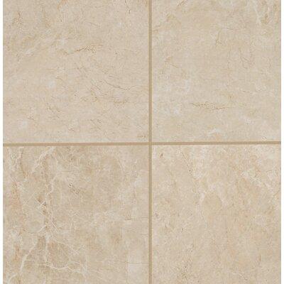 Bradwell Glazed 18 x 18 Porcelain Field Tile in Crema Marfil