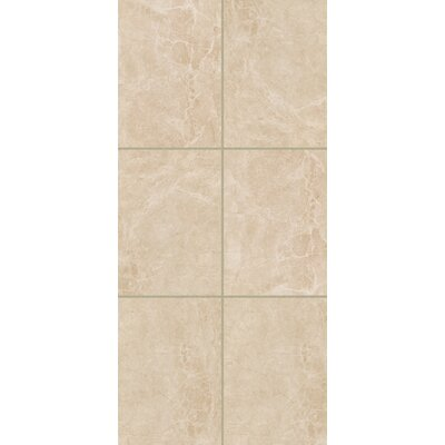 Bradwell 12 x 24 Ceramic Field Tile in Crema Marfil