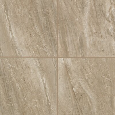 Bradwell Glazed 18 x 18 Porcelain Filed Tile in Nocino Travertine