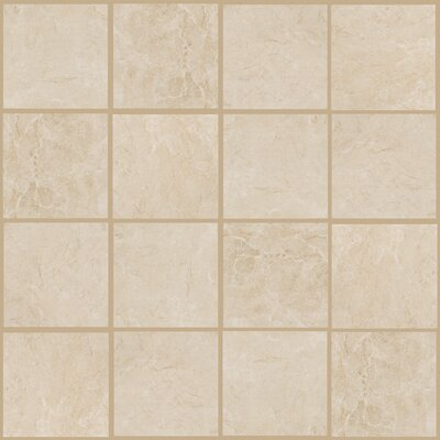 Bradwell 12 x 12 Porcelain Field Tile in Crema Marfil