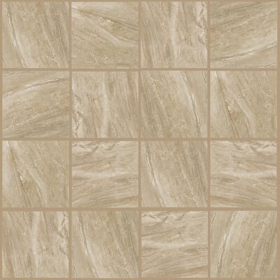 Bradwell 12 x 12 Porcelain Field Tile in Nocino Travertine