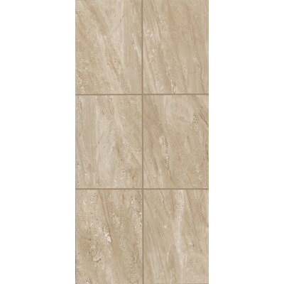 Bradwell 12 x 24 Ceramic Filed Tile in Nocino Travertine