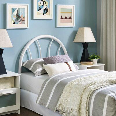 Crider Twin Open Frame Headboard Color: White