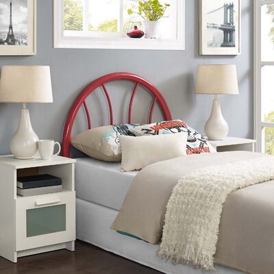 Crider Twin Open Frame Headboard Color: Red