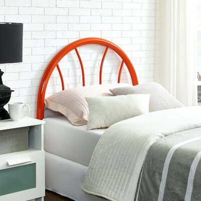 Crider Twin Open-Frame Headboard Color: Orange