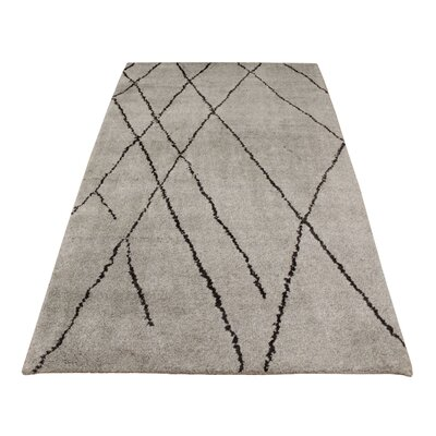 Crossman Hand Knotted Wool Gray Indoor Area Rug