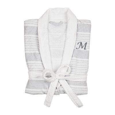 Milton Single Initial Turkish Cotton Bathrobe Letter: M