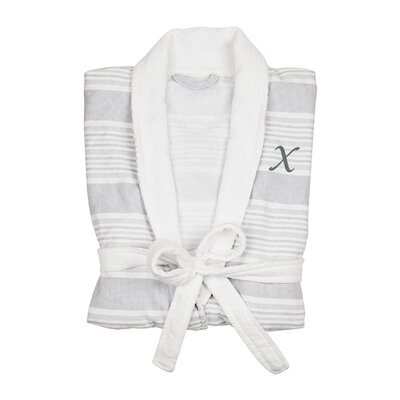 Milton Single Initial Turkish Cotton Bathrobe Letter: X