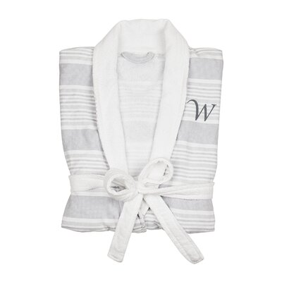 Milton Single Initial Turkish Cotton Bathrobe Letter: W