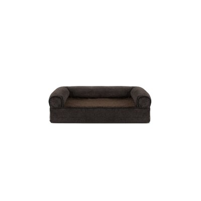 Faux Fleece and Chenille Soft Woven Memory Top Dog Sofa Size: Small (20 W x 15 D x 6 H), Color: Coffee